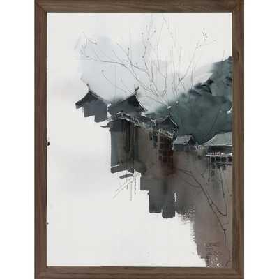"KYOTO, JAPAN -16"" H x 12"" W x 0.75"" D-Framed - Dwell Studio"