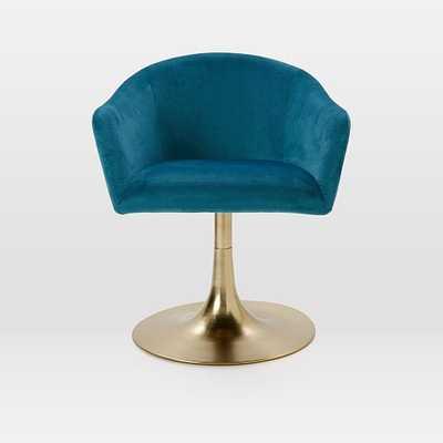 Bond Upholstered Swivel Office Chair - West Elm