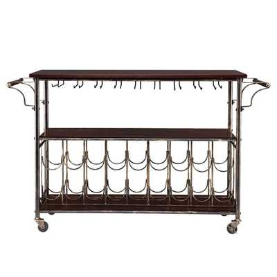 Upton Home TuscanyWine/ Bar Cart Serving Table - Overstock