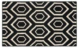 Ampara Dhurrie, Black/Ivory - 8'x 10' - One Kings Lane
