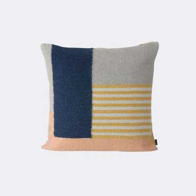 KELIM CUSHION - WHITE LINES- 50 x 50 cm- Feather / down fill insert - FermLiving