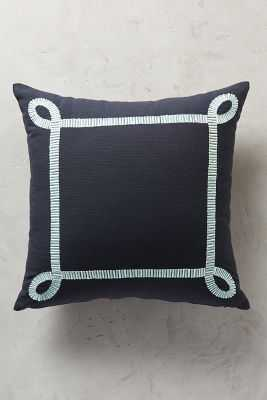 """Winding Road Pillow - Navy - 18"""" x 18"""" - Polyfill - Anthropologie"""