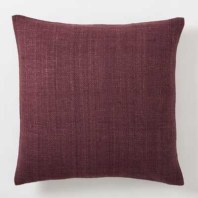 "Silk Hand-Loomed Pillow Cover - Currant - 20""sq. - Insert Sold Separately - West Elm"