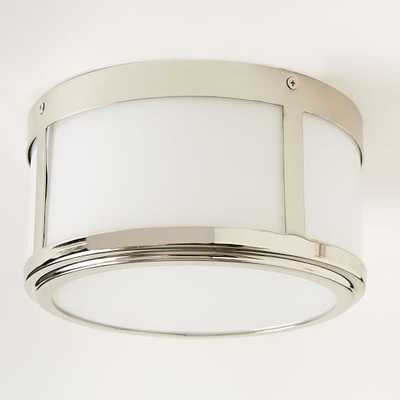 Classic Cubic Flushmount + Sconce - Circle - Polished Nickel - West Elm