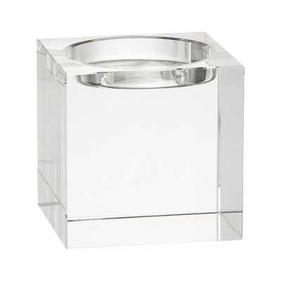 Oslo Crystal Pillar Holder - Crate and Barrel