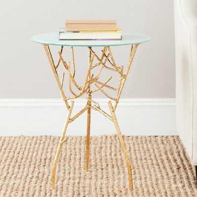 Safavieh Tara Accent Table - Gold - Target