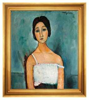 "Modigliani, Christina- 20.5"" x 22.5""- Framed (Gold) - One Kings Lane"