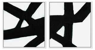 "Ilana Greenberg, Crossroads - 22""W x 24""H - White Frame without mat - One Kings Lane"