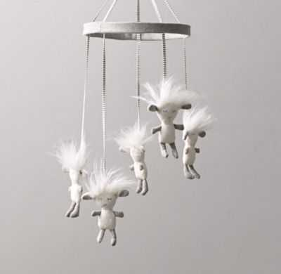 Wooly Plush Lamb Mobile - RH Baby & Child