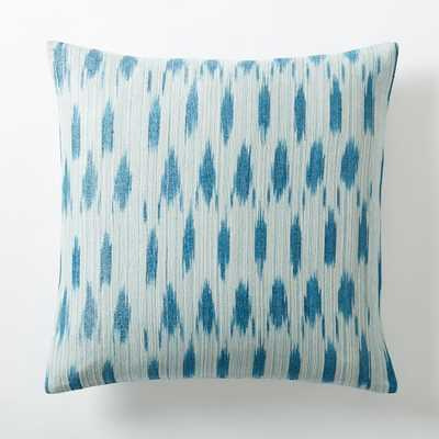 """Metallic Ikat Dot Pillow Cover - Blue Teal - 20""""sq. - Insert sold separately - West Elm"""