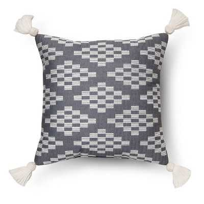 "Herringbone Embroidered Square Decorative Pillow -Blue Nate Berkusâ""¢ - Target"