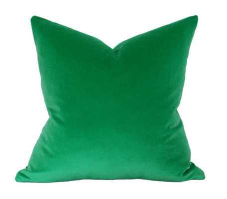 Emerald Green Velvet Pillow Cover - Etsy