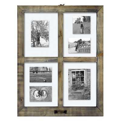 "4 Opening Windowpane Collage Frame -Thresholdâ""¢-25.500L x 19.500W x 1.500D - Target"