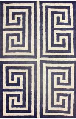 "Hand Tufted Alexander area rug - Blue, 7'6"" x 9'6"" - Loom 23"