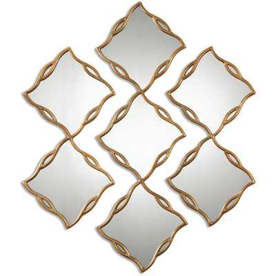 Uttermost Terlizzi Gold Decorative Wall Mirrors (Set of 3) - Overstock