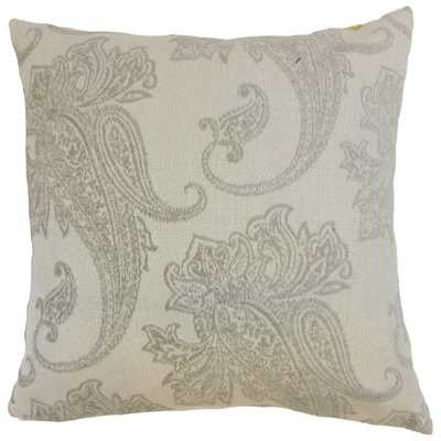 Galia Paisley Down and Feather Filled Throw Pillow - Overstock