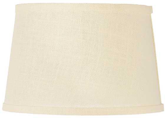Cream Burlap Drum Lamp Shade 10x12x8 (Spider) - Lamps Plus
