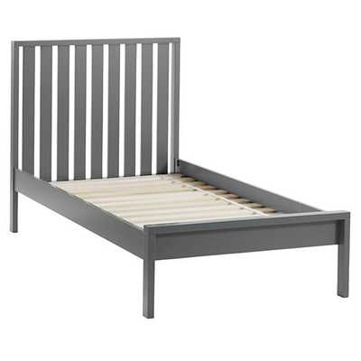 Twin Cargo Low Footboard Bed (Charcoal) - Land of Nod