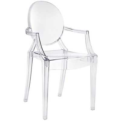 Louis Ghost Dining Armchair - Domino