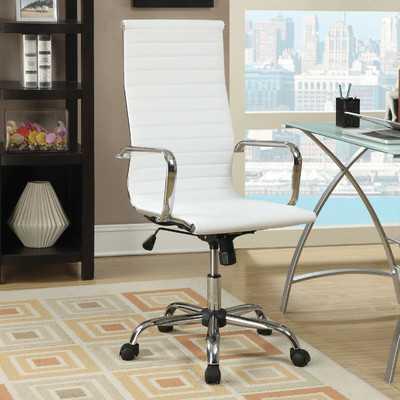 High-Back Office Chair with Arms - Wayfair