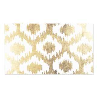 Modern white hand drawn ikat pattern faux gold Throw - Society6