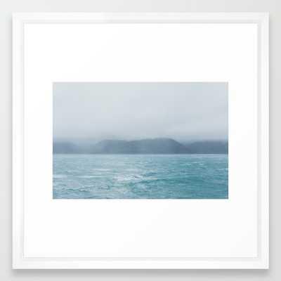 """New Zealand Ocean Art Print - 22"""" x 22"""" - Vector White Frame - Society6"""