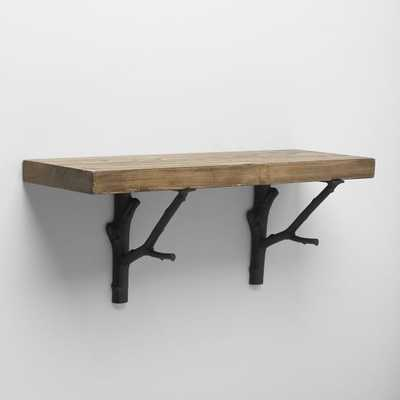 Reclaimed Wood Shelving + Brackets - West Elm
