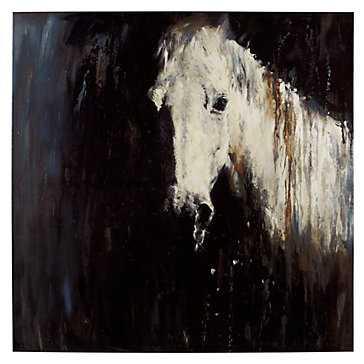 Horse In The Rain - 48''W x 48''H - Unframed - No mat - Z Gallerie
