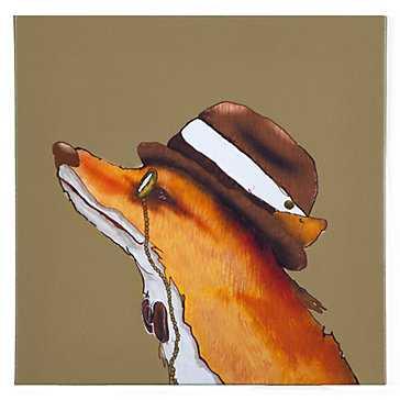 Hipster Fox  - 12''W x 12''H   - Unframed - Z Gallerie