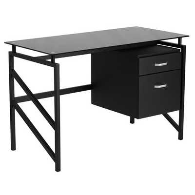 Computer Desk with 2-Drawer Pedestal - AllModern