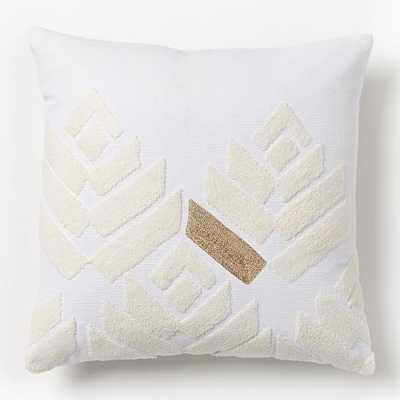 """Flower Buds Pillow Cover - Stone White/Gold- 18"""" x 18"""" insert sold separately - West Elm"""