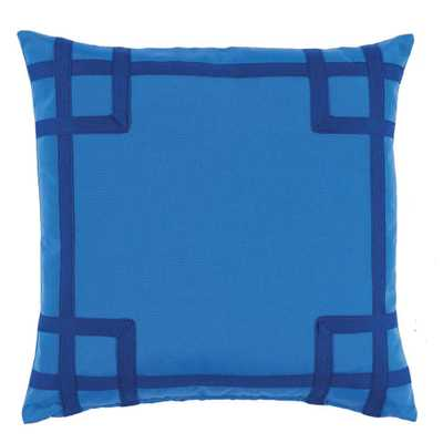 "Rio Typhoon Outdoor Pillow - 20"" L X 20"" H - polyfill insert - Domino"