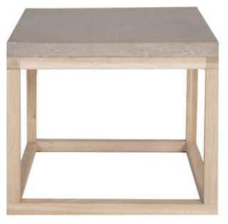 Rayan Concrete Side Table, Graystone - One Kings Lane