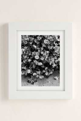 """Debbie Carlos Black And White Flowers Art Print - 18"""" x 24"""" - Framed - Urban Outfitters"""