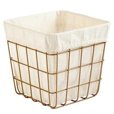 Index Cube Bin (Gold) - Land of Nod