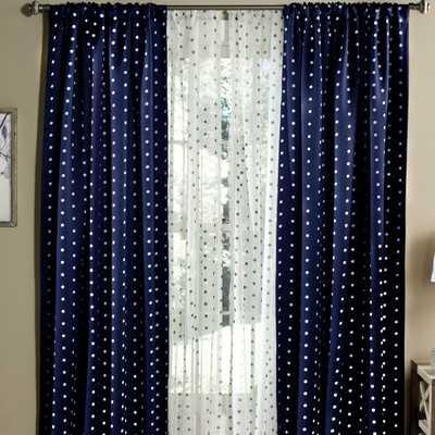 Polka Dots Blackout Window Single Curtain Panel - Wayfair