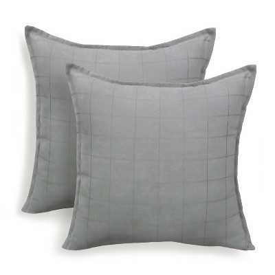 """Essentials Mendon Embossed Suede Throw Pillow - 2 Pack - 20"""" - insert - Target"""