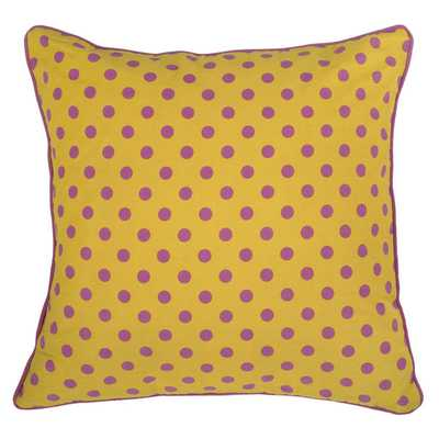 Rizzy Home Yellow Rachel Kate 18-inch Throw Pillow - Overstock