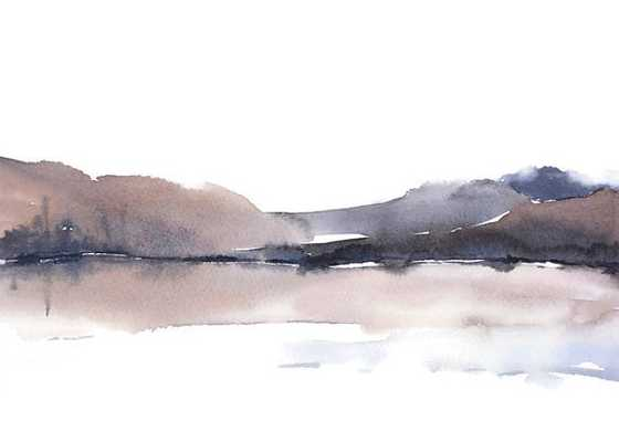 """Landscape Abstract Watercolor Print - 13"""" x 19"""" - Etsy"""