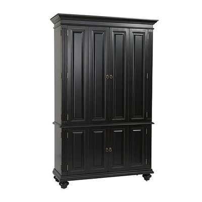 Slim Chadwick Media Armoire - Rubbed Black - Ballard Designs