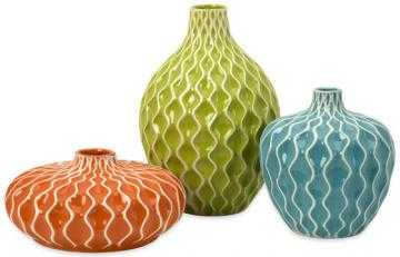 Agatha Ceramic Vases - Set of 3 - Home Decorators