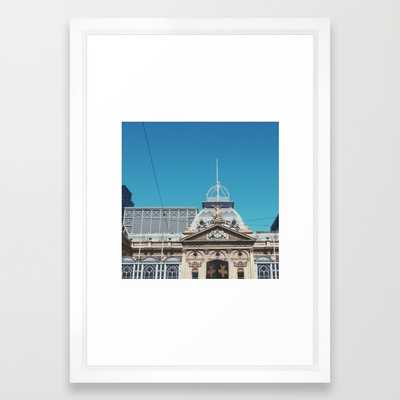 "Melbourne, Australia Art Print - 15"" x 21"" - Vector White Frame - Society6"