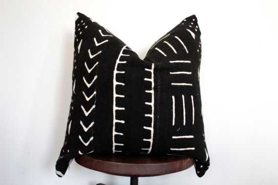 """African Mudcloth Pillow Cover-20"""" x 20""""-Insert not included - Etsy"""