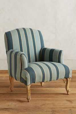 Cotton Dhurrie Dorrance Chair - Blue - Anthropologie