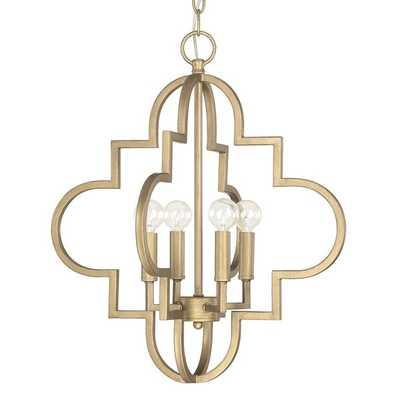 Capital Lighting Ellis Collection 4-light Brushed Gold Pendant Light - Overstock