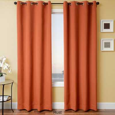 """Sunbrella Indoor/Outdoor Grommet Top Curtain Panel - Rust 84"""" - Home Decorators"""