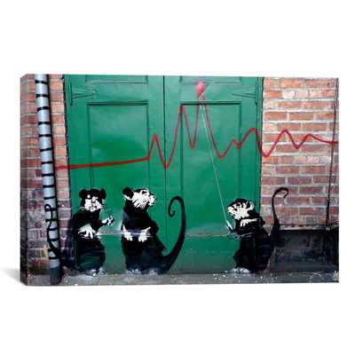 Banksy 'Banksy in Seattle' Gallery Wrapped Canvas Print Wall Art - Overstock