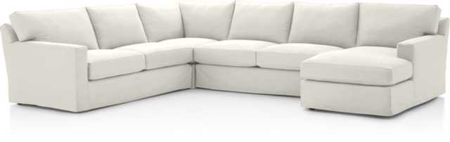 Axis II Slipcovered 4-Piece Sectional Sofa - Crate and Barrel