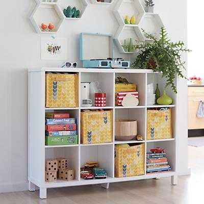 Cubic Bookcase (White, 12-Cube) - Land of Nod