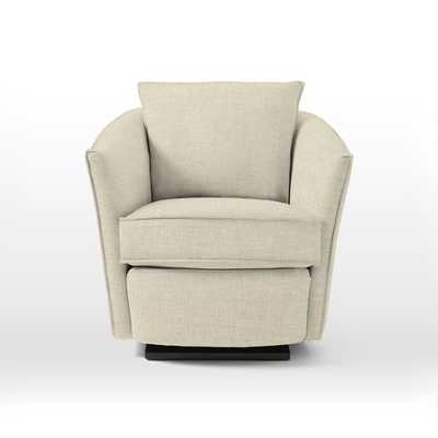 Duffield Glider Chair - Brushed Heathered Cotton, Flax - West Elm